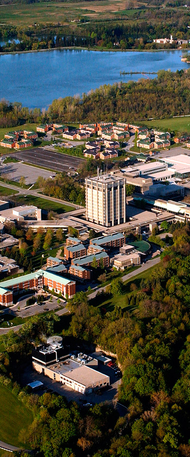 Bird's Eye view of the Brock University Campus