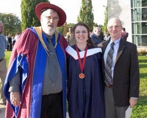 Professors Richard Parker and Mike Carter with Stephanie Culp