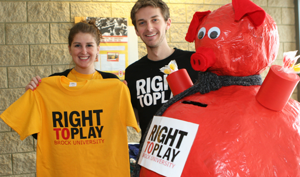 Students promote Right to Play – The Brock News