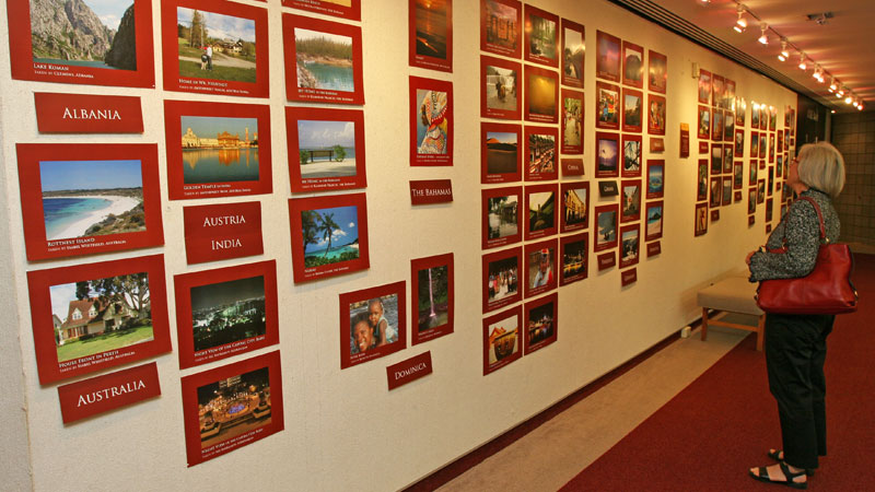 A photo display is viewable all week at the Sean O'Sullivan Theatre.