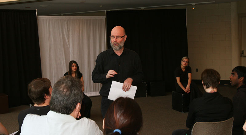 Joe Norris engages the audience during a recent Mirror Theatre performance at Brock.