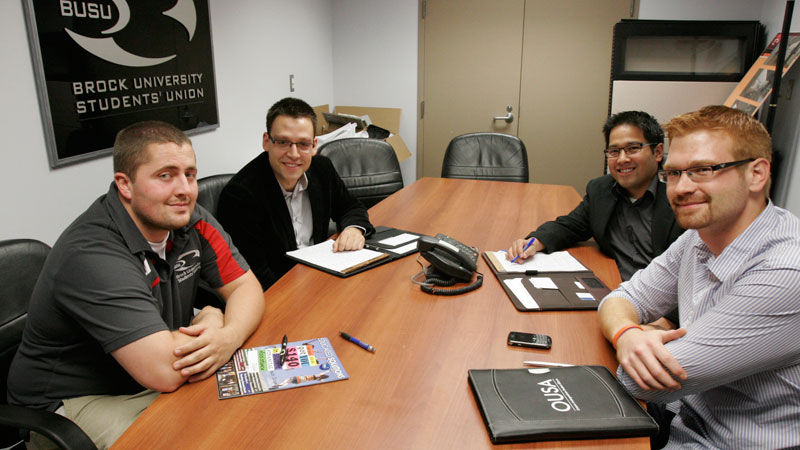 provincial student union officials come to brock  u2013 the