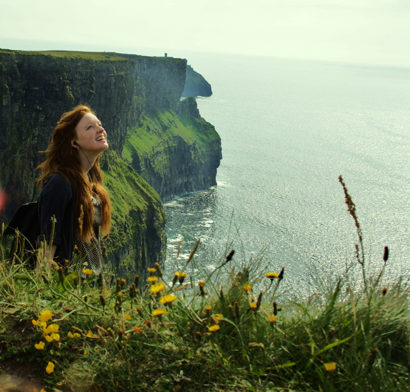 Brooklnn Cooper traveled across Europe, including the Cliffs of Moher in Ireland