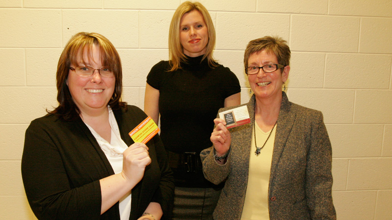 From left: Amanda Whitwell, Brock Wellness committee member Diana Panter and June Robertson