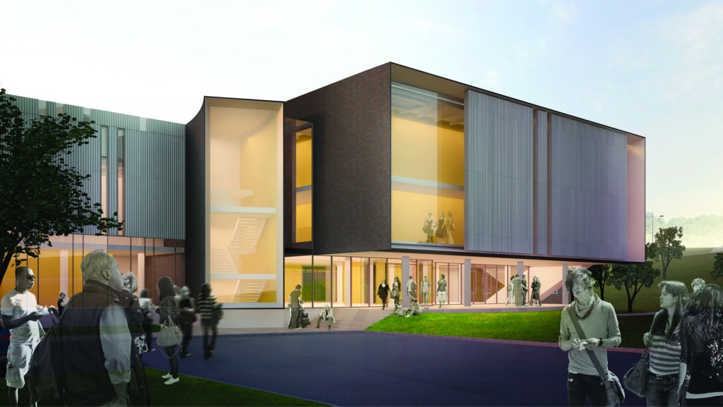 An artist's rendering of the Marilyn I. Walker School of Fine and Performing Arts.