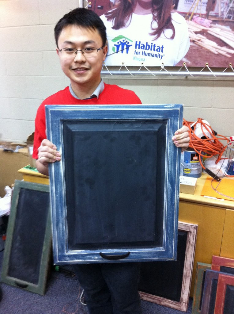 Brock student Peng (Jason) Xin spent his reading week helping Habitat for Humanity in Niagara.
