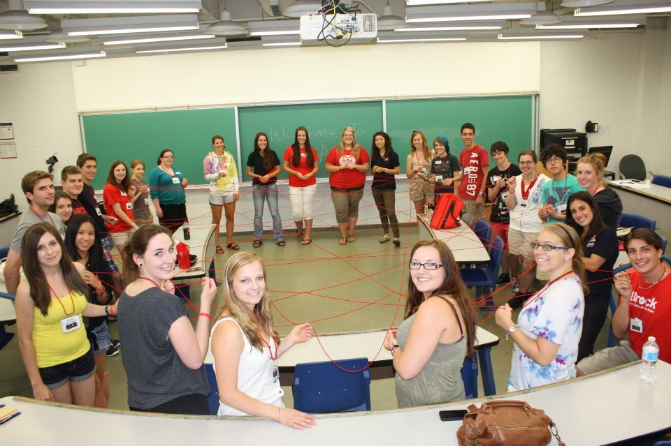 New Brock students take part in activities with LEAP, a program that helps incoming students get acquainted with residence life and living in Niagara.