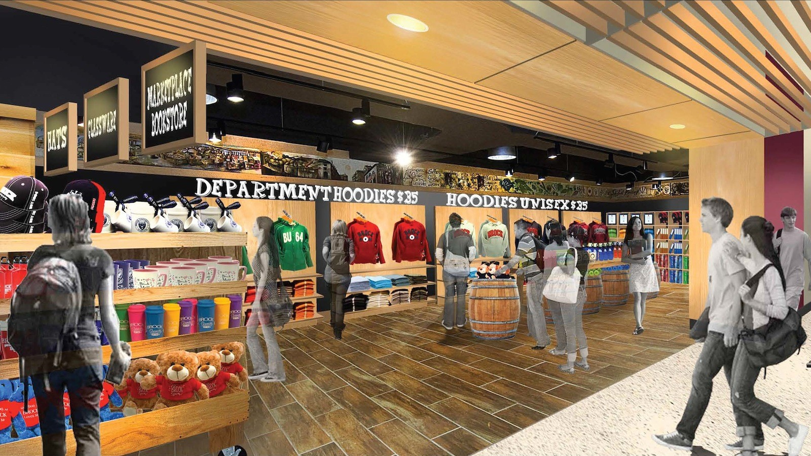 The Campus Store Is Setting Up Shop In Guernsey Market An Artists Rendering Shows What Space Which Opens Friday Will Resemble