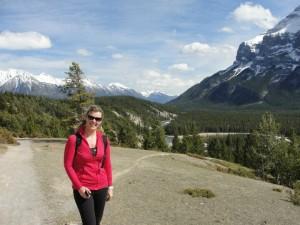 Kathie taking in Alberta's beauty