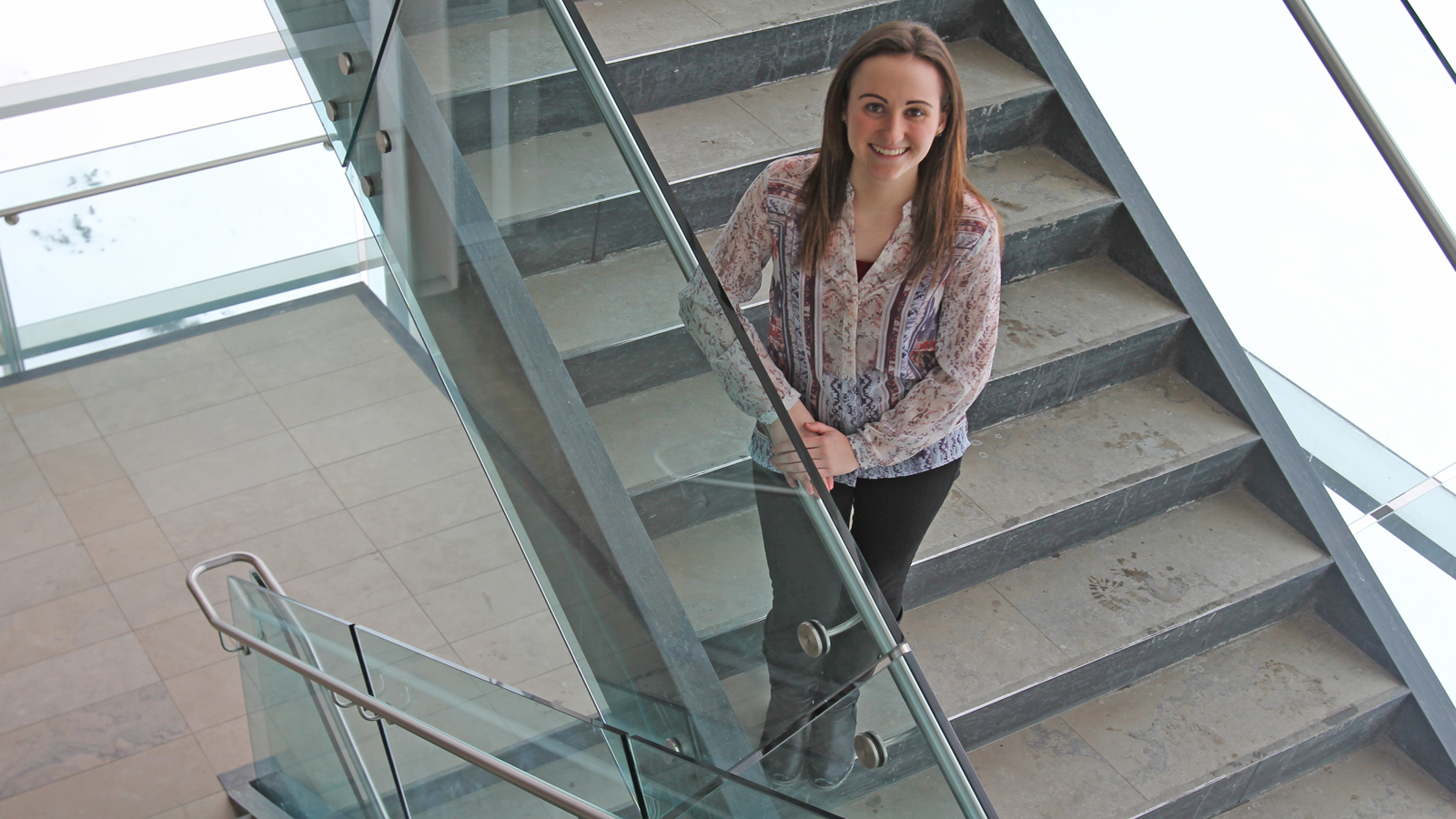 Brock business student Jennifer Philpott's day turned around after learning she'd won a $5,500 Futures Fund Scholarship for Outstanding Leadership.