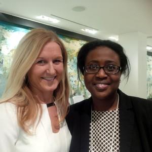 Brock alumni Deborah Rosati and Omosalewa (Shalewa) Iaboni met at an International Women's Day event.
