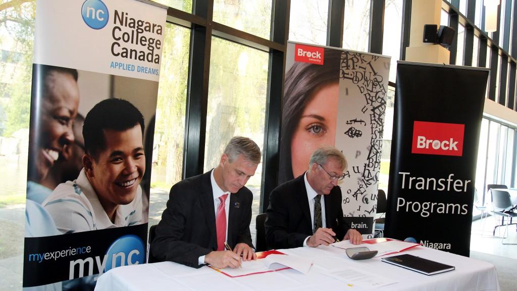 Brock-Niagara program signing