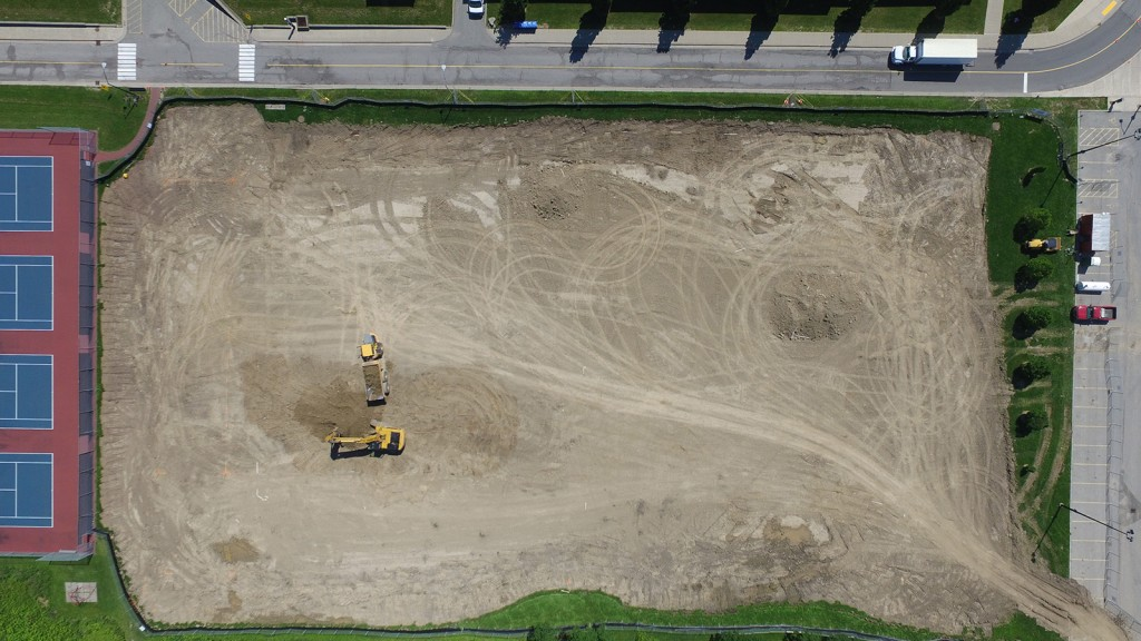 turf field construction on schedule � the brock news