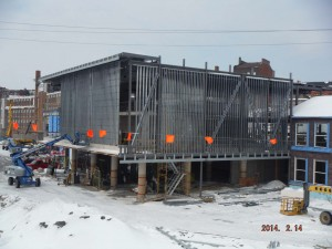 Winter didn't stop construction at the MIWSFPA.