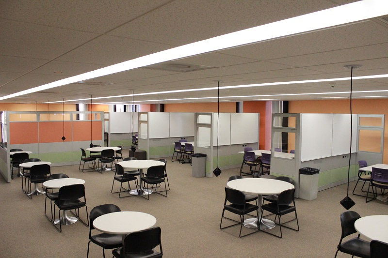 Group learning space on the sixth floor or library.