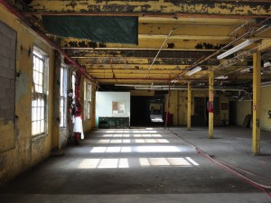One of the rooms in the old Canada Hair Cloth building before it was transformed into the new arts school.