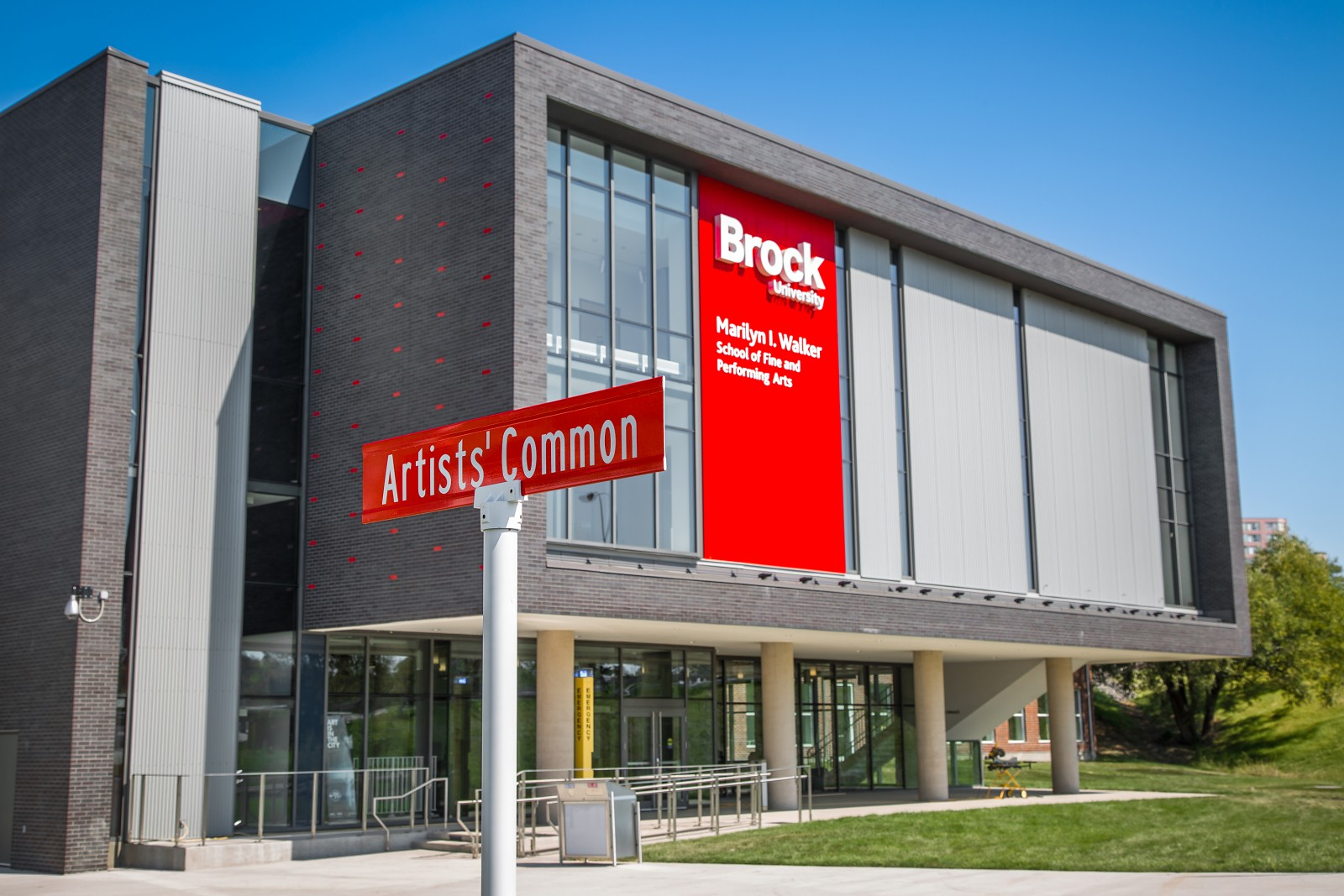 The street sign for Artists' Common can be seen in front of the new MIWSFPA.