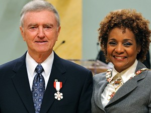Ken Kernaghan with then-Governor General Michaelle Jean after receiving his Order of Canada in 2010