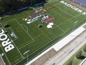 Brock University's artificial turf field will open Saturday, September 19, 2015.
