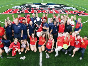 Group photo on the new artificial turf field.