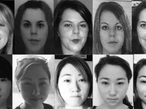 These photos show how much a person's appearance can vary across photos and represent the range of variability in our study.