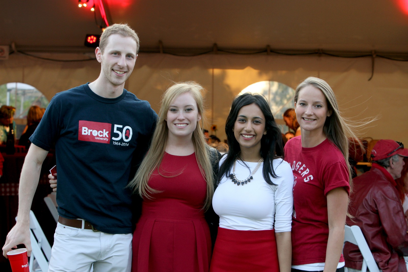 Riley Percheson, Stacey Smith, Aanchal Narula and Krista Kendell are photographed at last year's Red Dinner. This year's event takes place Saturday, Sept. 19.