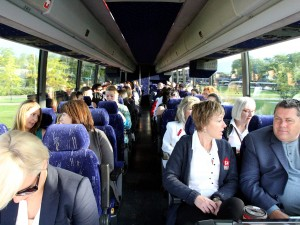 Faculty and staff filled a bus bound for Toronto and the Ontario University Fair Friday morning. Brock University will be showcasing its programs, services and campus life to high school students during the three-day event.