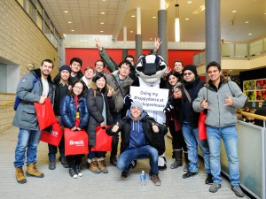 Boomer the Brock Badger is always a hit with visiting students.