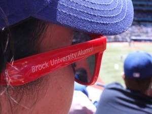 Fan at a baseball game