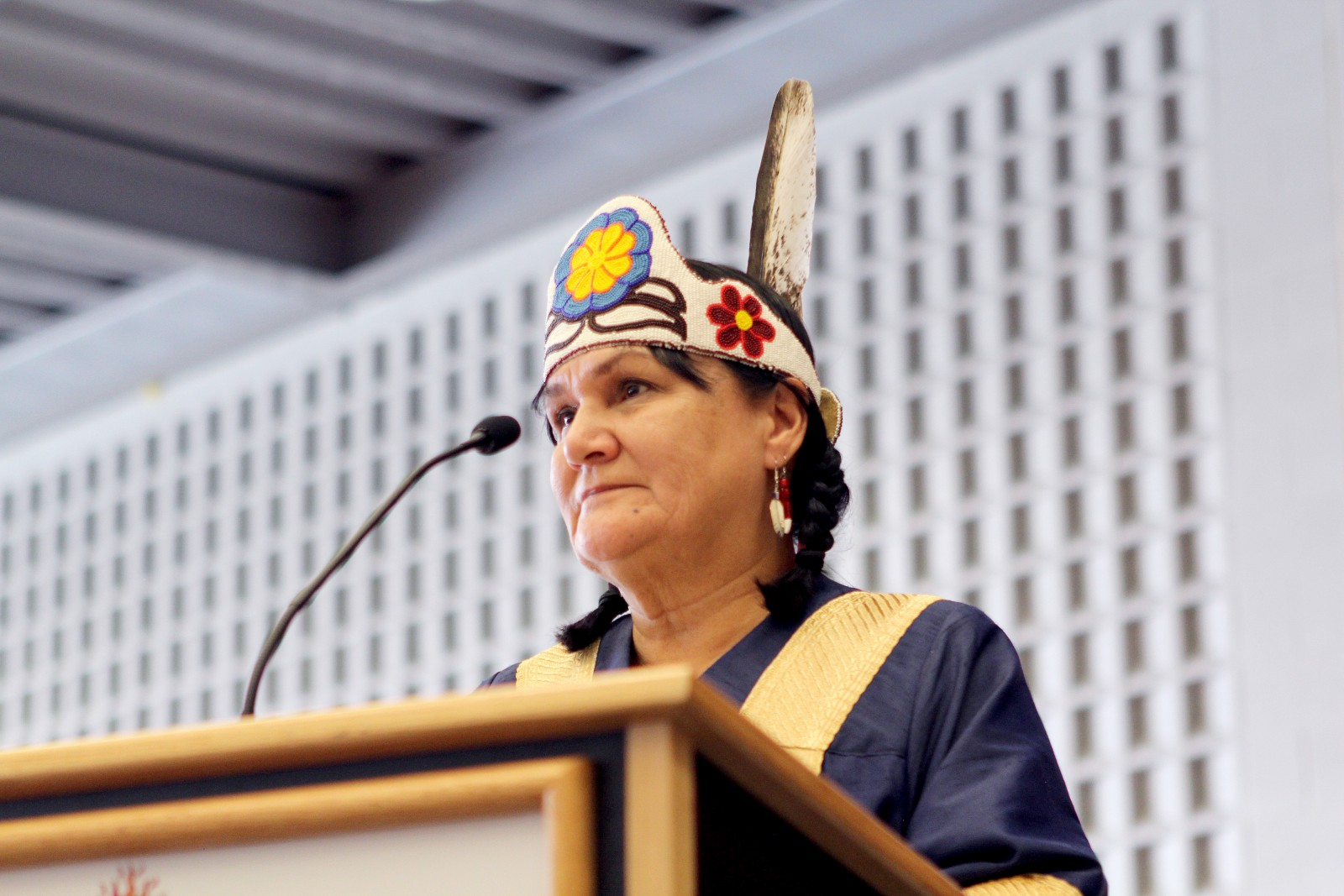 Brock University's new Chancellor Shirley Cheechoo gives her first convocation speech Saturday, Oct. 17.