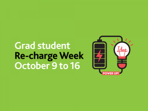Student Re-Charge Week October 9 to 16