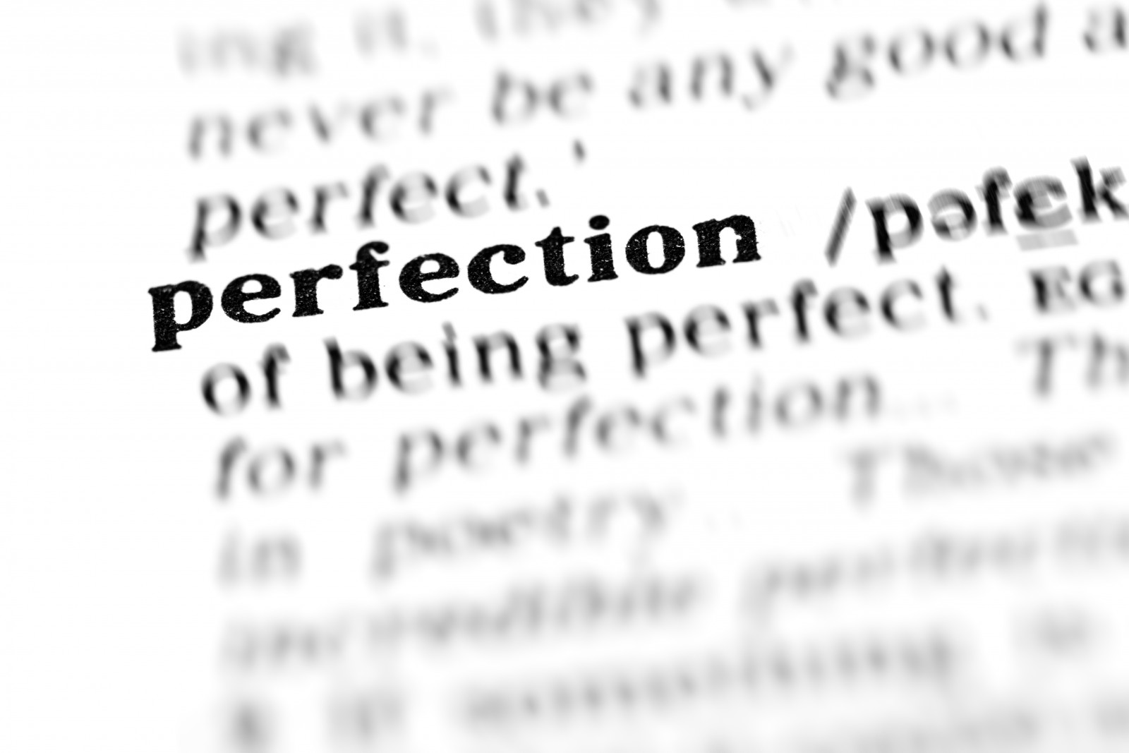 perfection (the dictionary project, macro shots, shallow D.O.F.)