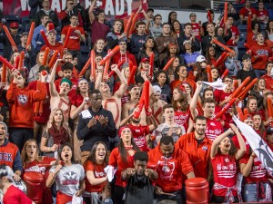 Brock University fans fill the stands at the Meridian Centre, Saturday, Nov. 28 for men's and women's basketball action.