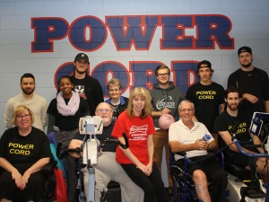 Members of the Power Cord program at the Brock-Niagara Centre for Health and Well-Being with Brock student volunteers from the Faculty of Applied Health Sciences.