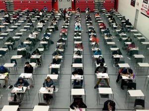 Students write exams Dec. 22, the last day of testing at Brock University before the holiday break. Classes resume Jan. 4.