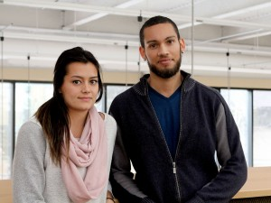 Stephanie Sanders, 22, and Reno Fernley, 24, are college transfer students attending Brock University.