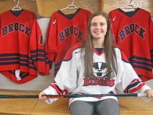 Beamsville's Annie Berg will attend Brock University starting in September and will play for the Brock Badgers women's hockey team.