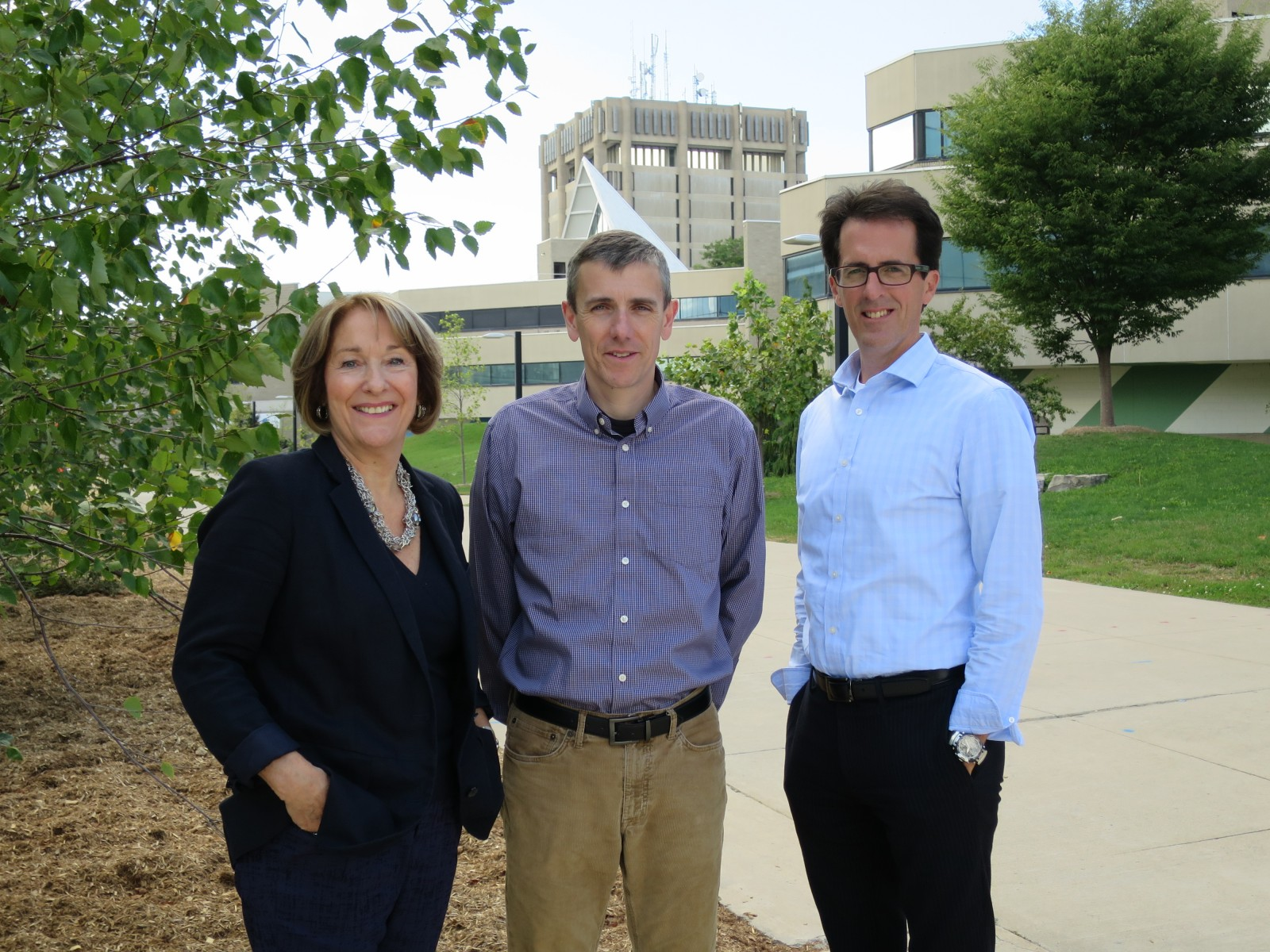 The 2015 MNK Award winners, from left, Nancy Francis and Thad Harroun, winners of the Graduate Mentorship Awards, and John McNamara, winner of the Marilyn Rose Leadership Award. The deadline for 2016 nominations is Thursday, March 10.