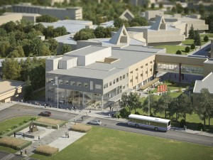 A rendering of the Goodman School of Business renovation and expansion plans.