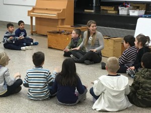 Teacher Lori Moccio, a Brock University graduate, is pictured in her classroom. She recently received the Carousel Players' Norah Morgan Memorial Award.