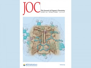 The cover illustration on the Journal of Organic Chemistry was designed by Brock University students Lee Belding and Peter Stoyanov.