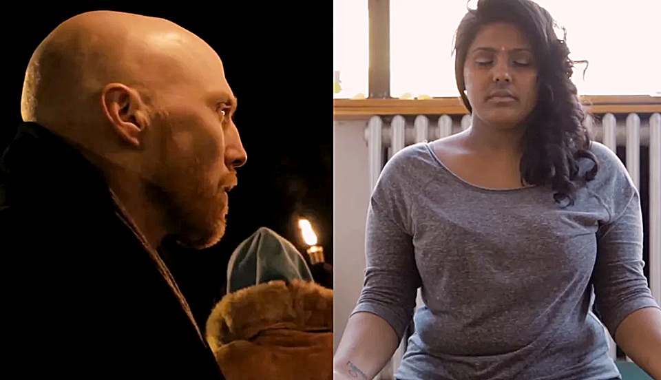 Simon Black, Assistant Professor in the Centre for Labour Studies, left, recently appeared in The Spirit of Social Change along with fellow activist Nayani Thiyagarajah, right. These images are from the short documentary, which was screened in Toronto last month.