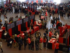 Prospective students and parents check out all Brock University has to offer during Open House in 2016.