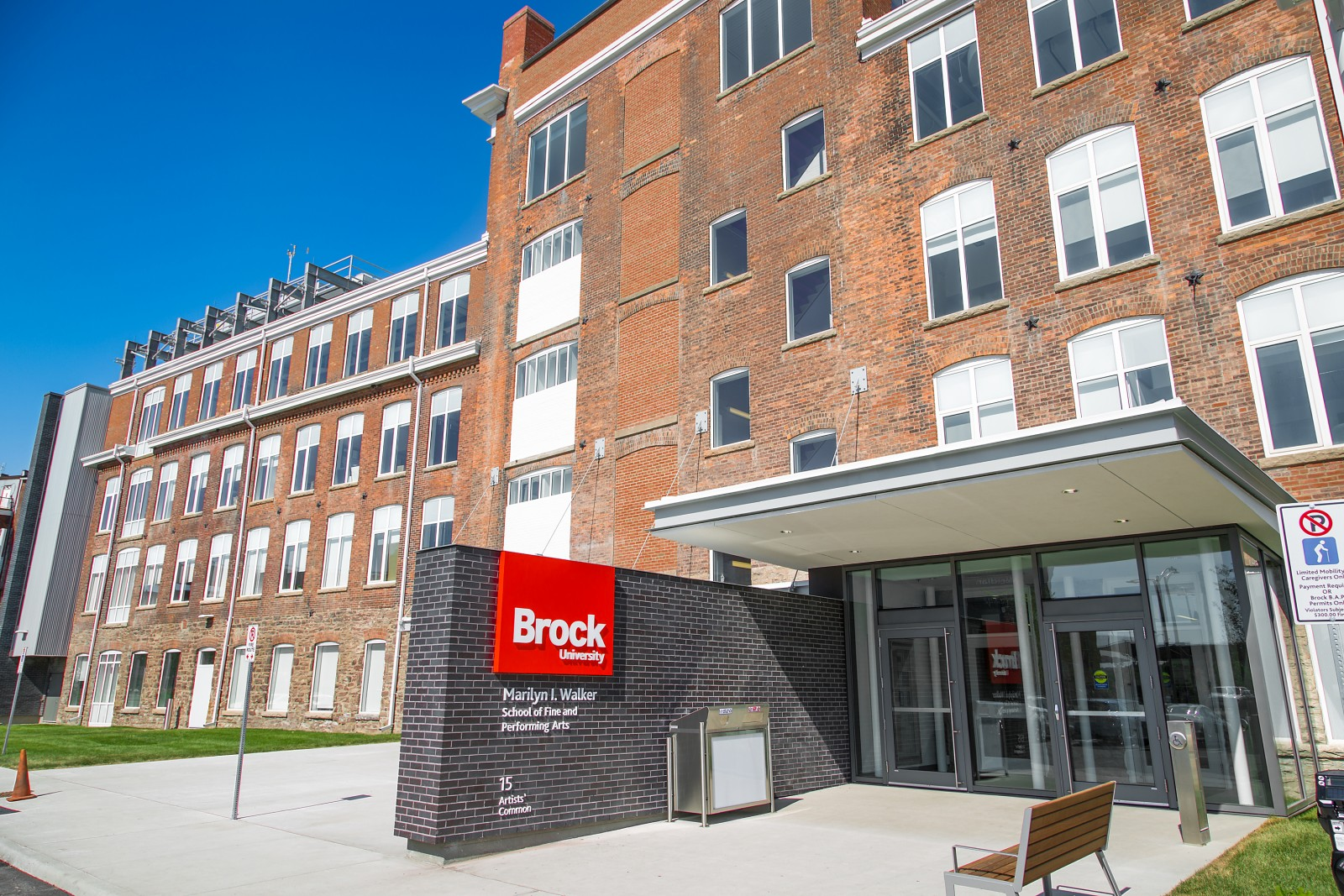 The former Canada Hair Cloth Building in downtown St. Catharines has been transformed into the Marilyn I. Walker School of Fine and Performing Arts - a building blending old with new.