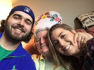 Third year Recreation and Leisure Studies students Kyle England and Shannon Connolly with their project partner Elizabeth Kadar who is a resident at Tabor Manor.