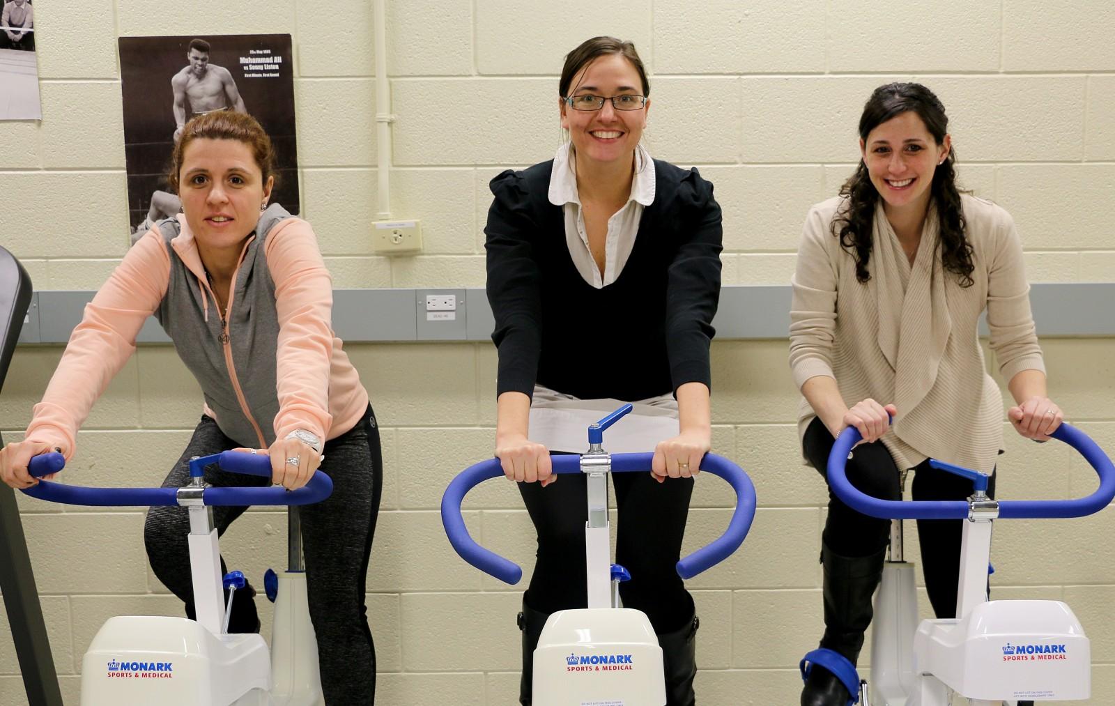 Brock University researchers Rozalia Kouvelioti, lead PhD student, Izabella Ludwa, research co-ordinator and Andrea Josse, Assistant Professor of Kinesiology.