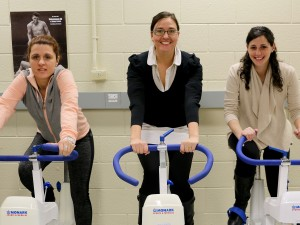 Brock University researchers Rozalia Kouvelioti, lead PhD student, Izabella Ludwa, research co-ordinator and Andrea Josse, Assistant Professor of Kinesiology.