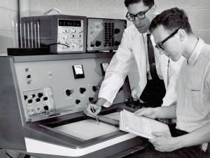 Jack Miller in lab in 1968