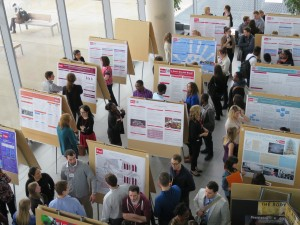 This file photo shows the poster presentations in the Mapping the New Knowledge Conference. The 2016 event is happening Thursday.
