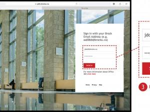 Screenshot of login for SharePoint